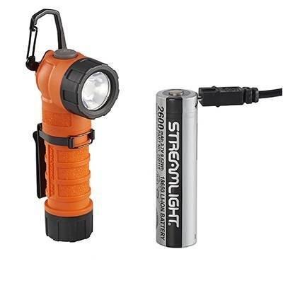 Latarka kątowa Streamlight Polytac 90X USB, kol. pomarańczowy, 500 lm